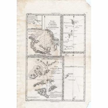 Plan de la Baye D' Awatska sur la cote (..) - Andre (1785)