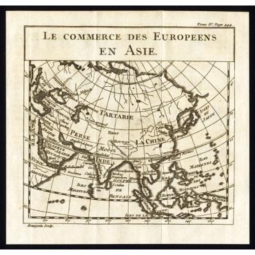 P.444 Le commerce des Europeens en Asie - Pluche (1742)