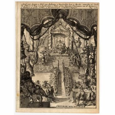 Chinese Rechtbank - De Hooghe (1682)