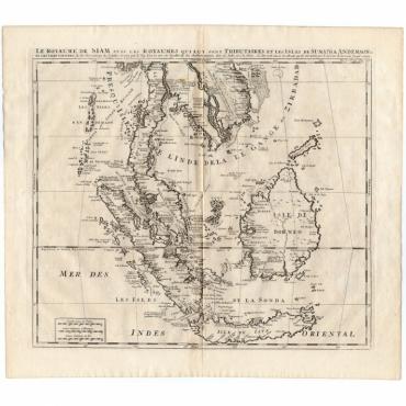 La Royaume de Siam avec les Royaumes (..) - Chatelain (1732)