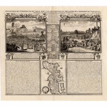 Succession des Empereurs du Japon (..) - Chatelain (1732)