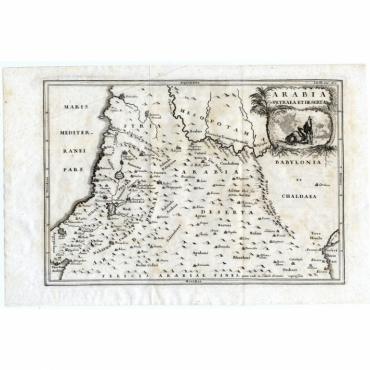 Arabia Petraea et Deserta - Cellarius (1731)