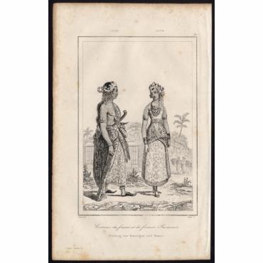 Pl.25 Costume de fiance et de fiancee Javanais Java - Rienzi (1836)
