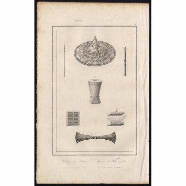 Pl.50 Chapeau Chinois, Armes et Ustensiles - Rienzi (1836)