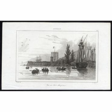 Pl.267 Vue de Fort Macquaire, Australie - Rienzi (1836)