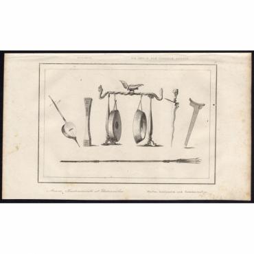 Pl.15 Armes, Instruments et Ustensiles, Oceanie - Rienzi (1836)