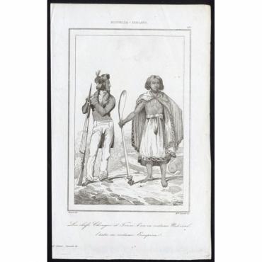Les chefs de Chongui et Touai, l'un en costume National, l'autre en costume Europeen - 181, Nouvelle-Zeeland - Rienzi (1836)