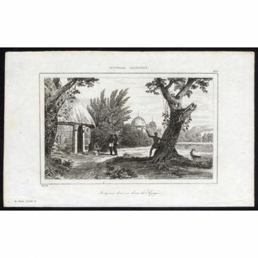 Indigenes don't un lance la Sagaye - 253, Nouvelle Caledonie - Rienzi (1836)