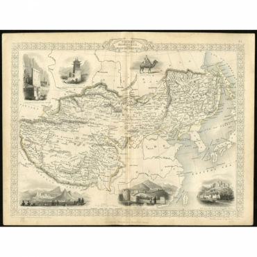 Thibet, Mongolia, and Mandchouria - Rapkin & Greatbach (c.1850)