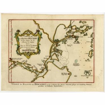 Carte de la Baye d' Hocsieu et des entrees de la Riviere de Chang situees dans la Province de Foyken - Bellin (1758)