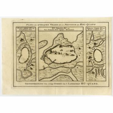 Plans de Quelques villes de la province de Hou-Quang - Bellin (1758)