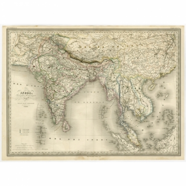 Indes, colonies Anglaises - Dyonnet (1860)
