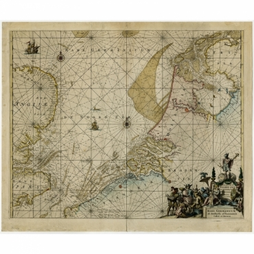 Pascaert van de Noord Zee van Ameland tot de Hoofden (..) - De Hooghe (c.1730)