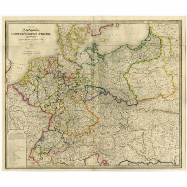 Map of the Germanic Confederate States (..) - Wyld (1854)