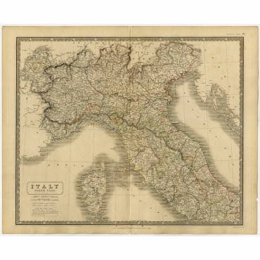Italy North Part. & Italy South Part - Johnston (c.1845)