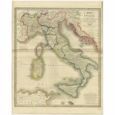 The States of Italy (..) - Wyld (1854)