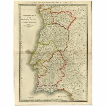 Mappa Corografica do Reino de Portugal (..) - Wyld (1854)