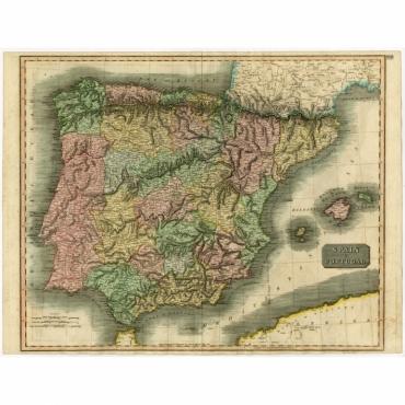 Spain & Portugal - Thomson (1815)