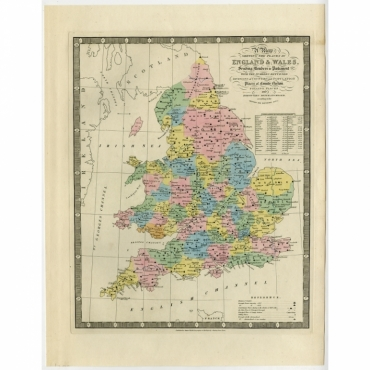 A Map Shewing the Places in England & Wales (..) - Wyld (1854)