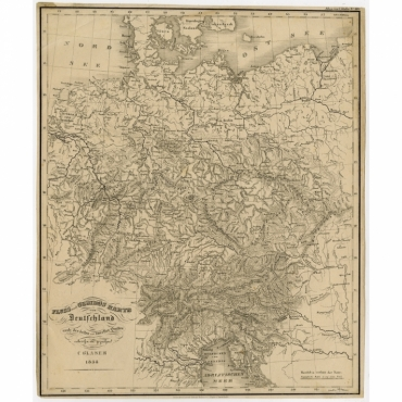 Fluss und Gebirgs Karte von Deutschland nach den besten und neuesten Quellen - Glaser (1838)