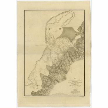 Plan du Havre de la Coquille (Ile Oualan) - Tardieu (1825)