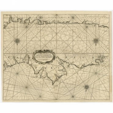 A Chart of the Sea Coasts Biscay and Gallicia (..) - Clark (c.1720)