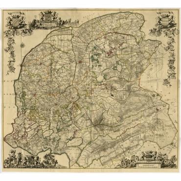 Nieuwe Caert van Frieslant (..) - Schotanus (1739)