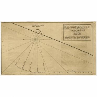 The Form of cruising off Acapulca on the Coast of Mexico (..) - Mason (1748)