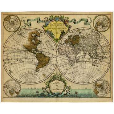 Mappe-Monde dresse sur les Observations (..) - De l'Isle (c.1740)