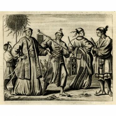 Dragt der Voorname Japanders - Montanus (1669)