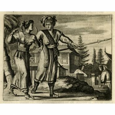 Dragt der Eilanders op Bungo - Montanus (1669)