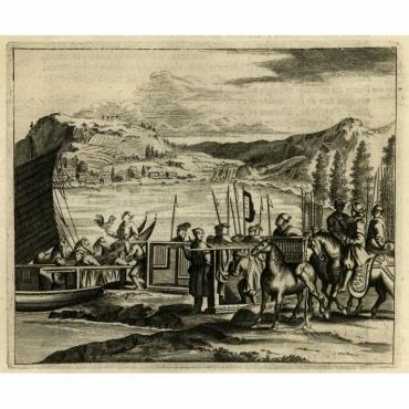 Japansche haanen wonderlyk vervoert - Montanus (1669)
