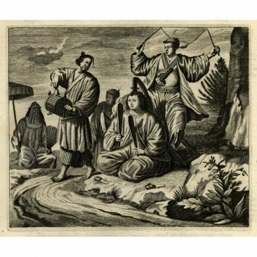 Japansche kamerspeelders - Montanus (1669)
