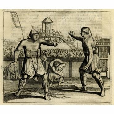 Japansche worstelaars - Montanus (1669)