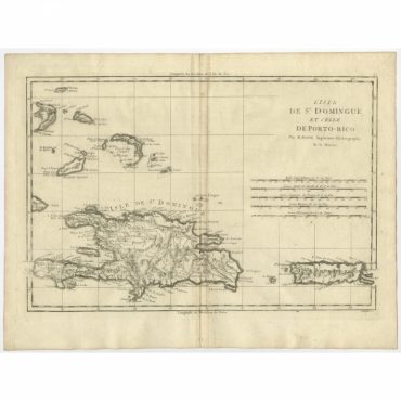 L'Isle De St. Domingue, et celle De Porto-Rico - Bonne (1780)