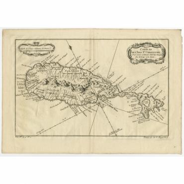 Carte de l'Isle St. Christophe pour Servir a l'Histoire Genle. des Voyages - Bellin (c.1750)