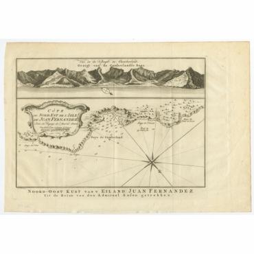 Cote du Nord Est de l'Isle de Juan Fernandez (..) - Bellin (c.1750)