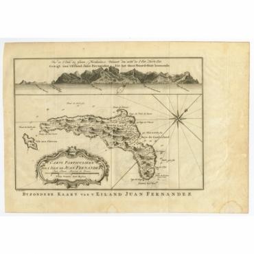 Carte Particuliere de l'Isle de Juan Fernandez (..) - Bellin (c.1750)