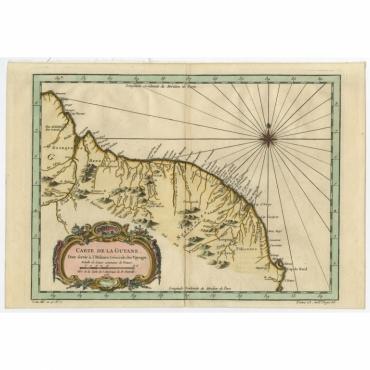 Carte de la Guiane - Bellin (1757)