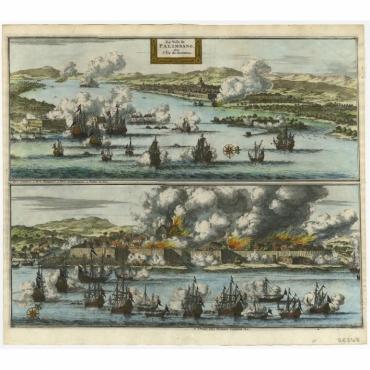 La Ville de Palimbang dans L'Ile de Sumatra - Van der Aa (c.1700)