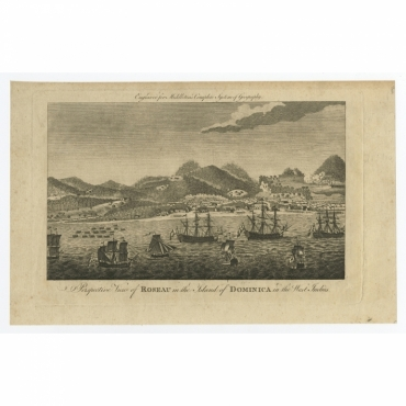Perspective View of Roseau in the Island of Dominica in the West Indies - Middleton (1779)