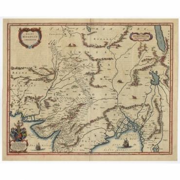 Magni Mogolis Imperium - Blaeu (c.1650)