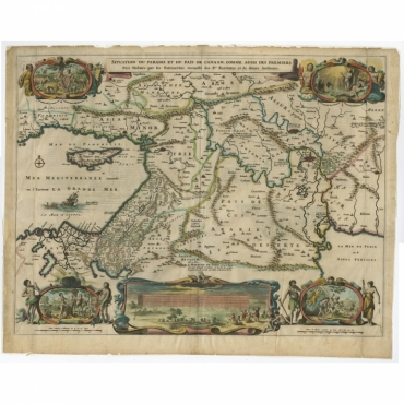 Situation Du Paradis Et Du Pais De Canaan (..) - Berchem (1669)