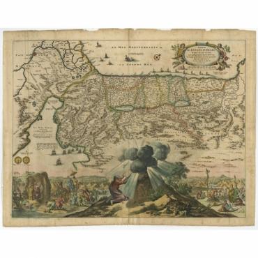 Sortie des Enfans D'Israel hors D'Egypte leur Passage Par la Mer Rouge - Berchem (1669)