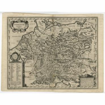 Germaniae Veteris typus - Janssonius (c.1650)