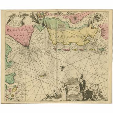 Paskaarte van de rievier de Elve streckende van Oldenbroek tot Hamburgh - Van Keulen (c.1700)
