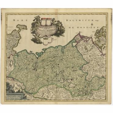 Ducatus Meklenburgicus (..) - De Wit (c.1680)