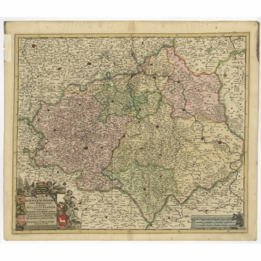 Circuli Saxoniae Superior Pars Meridionalis (..) - De Wit (c.1680)