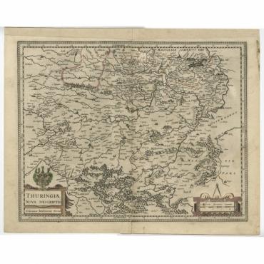 Thuringiae Nova Descriptio - Janssonius (c.1650)