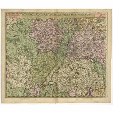 Tabula Geographica qui Pars Meridionalis (..) - Visscher (c.1680)